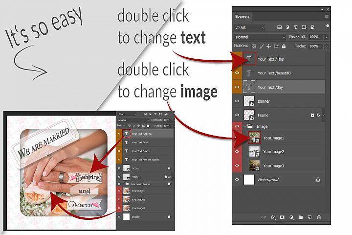 MOCKUP - Animated Instagram templates, Wedding, inc. custom example 8