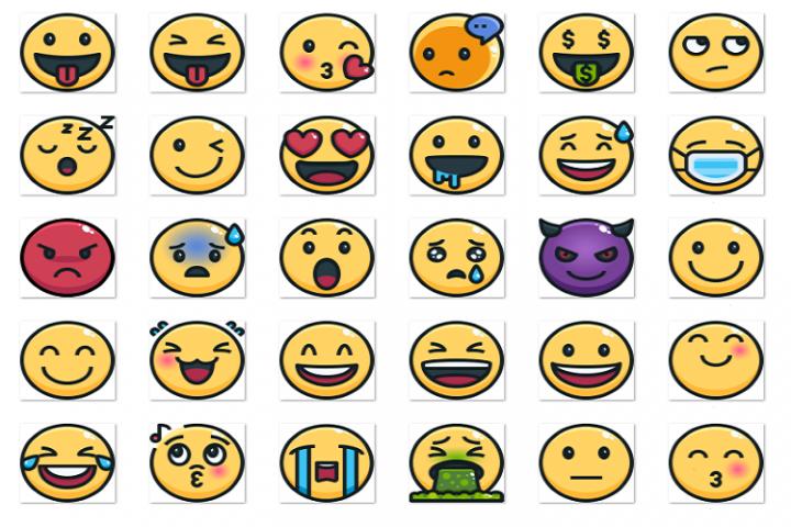 Emoji contour fill