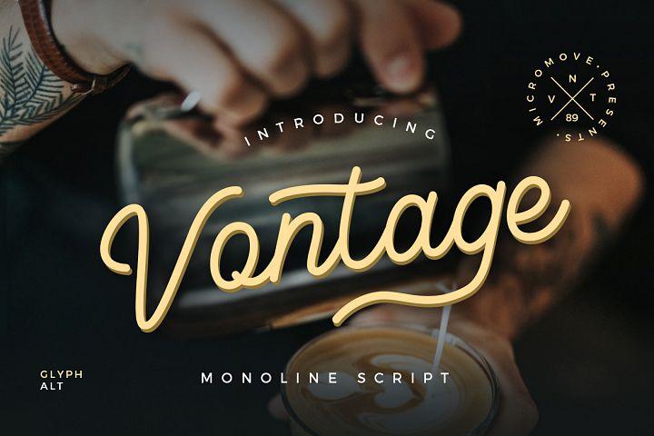 Vontage - Monoline Script