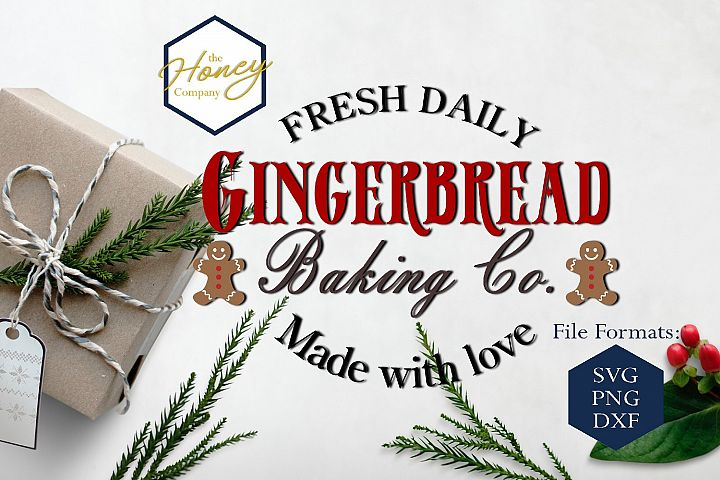 Gingerbreadr SVG DXF PNG Christmas Clipart Cutting File