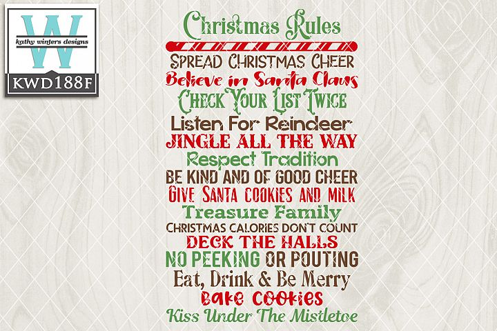 Christmas SVG - Christmas Rules