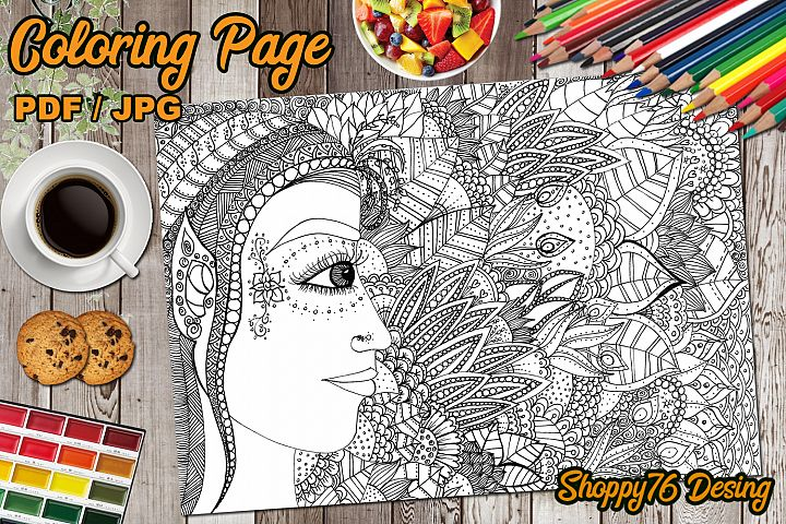 Light Elf / coloring page