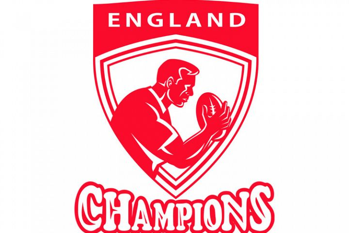 Rugby player England Champions shield