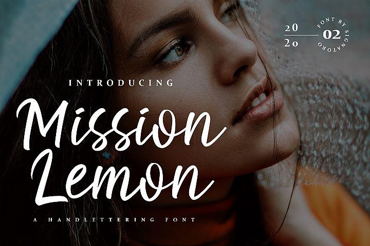 Mission Lemon Handlettering Font
