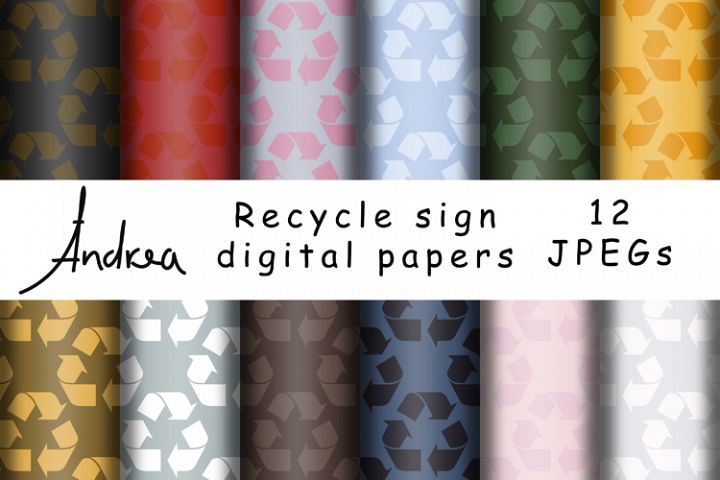 Recycle sign digital papers