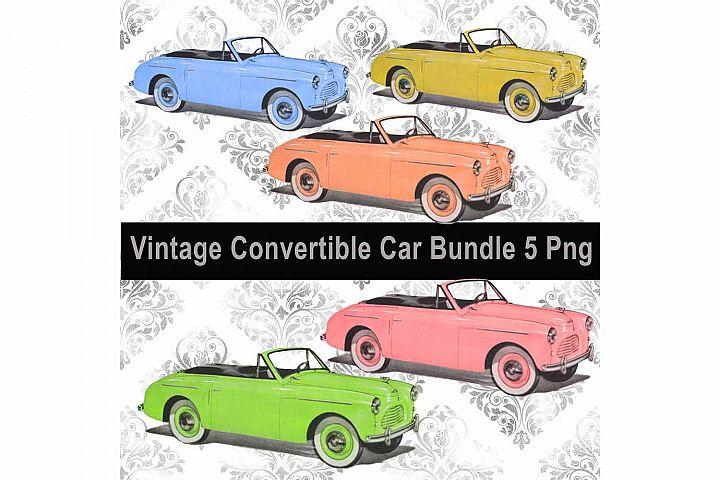 Vintage Convertible Car Bundle, Clip Art, Sublimation PNG