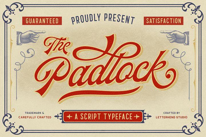 The Padlock - A Vintage Script