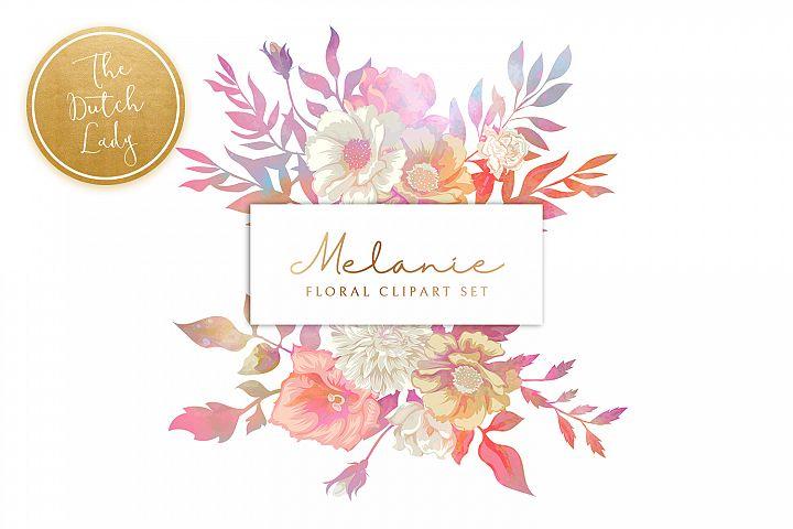 Vintage Floral & Botanical Clipart Set - Melanie