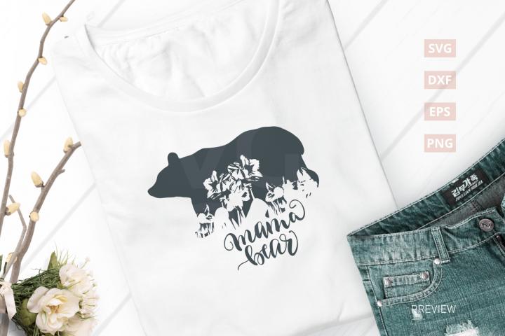 Mama Bear SVG Cut File|SVG |DXF |EPS |PNG
