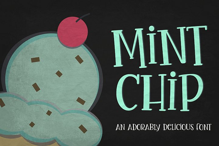 Mint Chip Font & Vectors