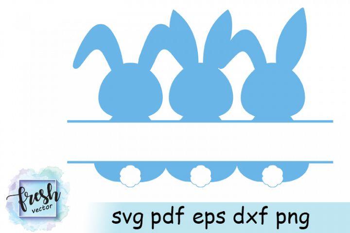 Easter Bunny Split Monogram Svg Easter Monogram Ester Svg