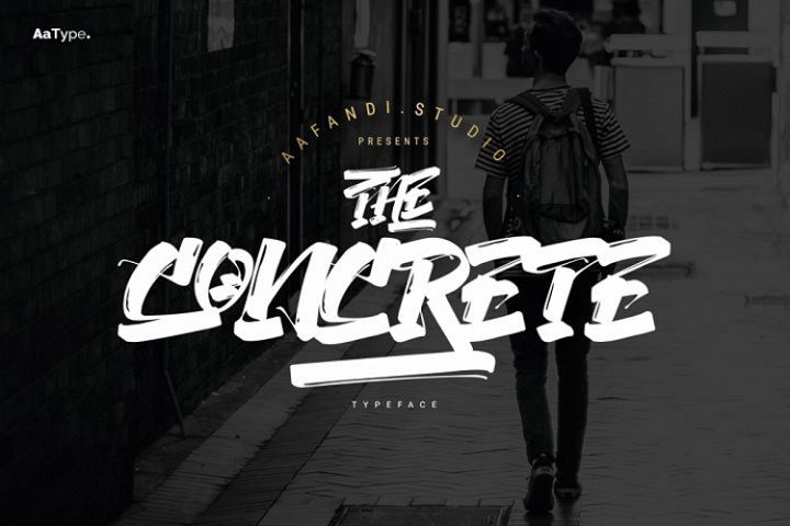 The Concrete Street Graffiti Font Bonus Free Flyer Template