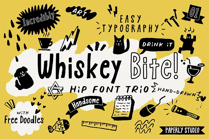 Whiskey Bite - Hip Font Trio