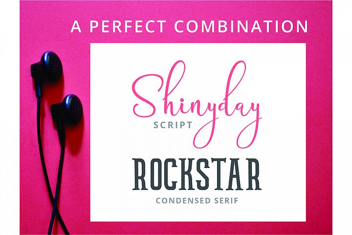 Shinyday & ROCKSTAR font duo - Free Font of The Week Design6