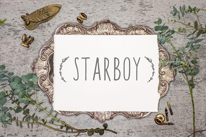 Starboy. Handwritten typeface.