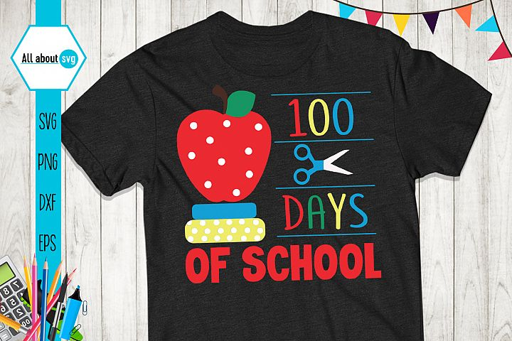 Happy 100 Days Of School, School Svg