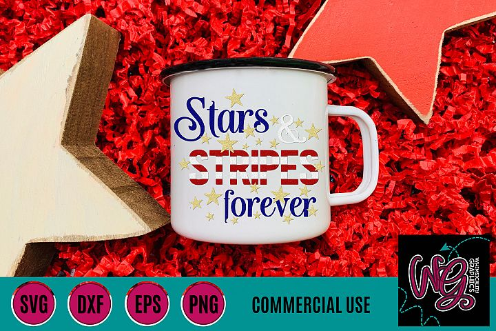 Stars and Stripes Forever SVG DXF PNG EPS Comm