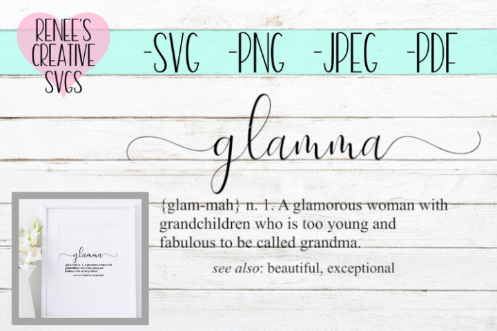Definition of Glamma| Quote | SVG Cutting File