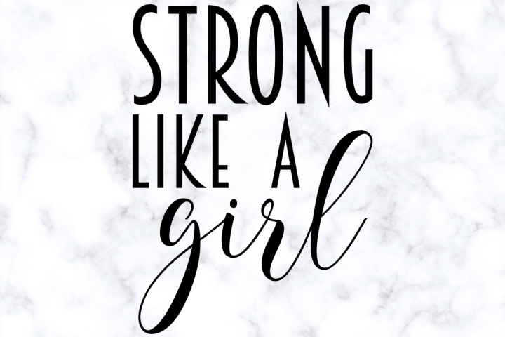 Strong Like A Girl SVG | Workout SVG | Exercise SVG