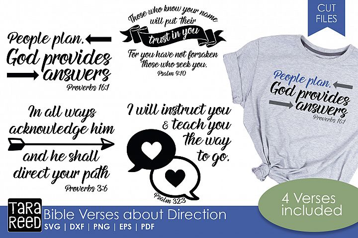 Bible Verses about Direction - Religious SVG and Cut Files