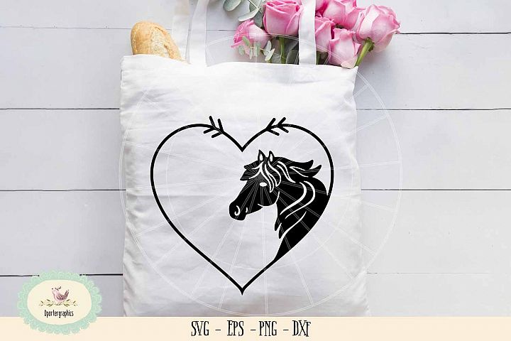 Horse heart die cut SVG PNG horse lover