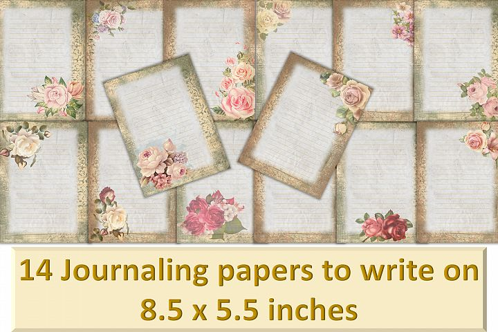 Printable Backgrounds for Journals and scrapbooking CU