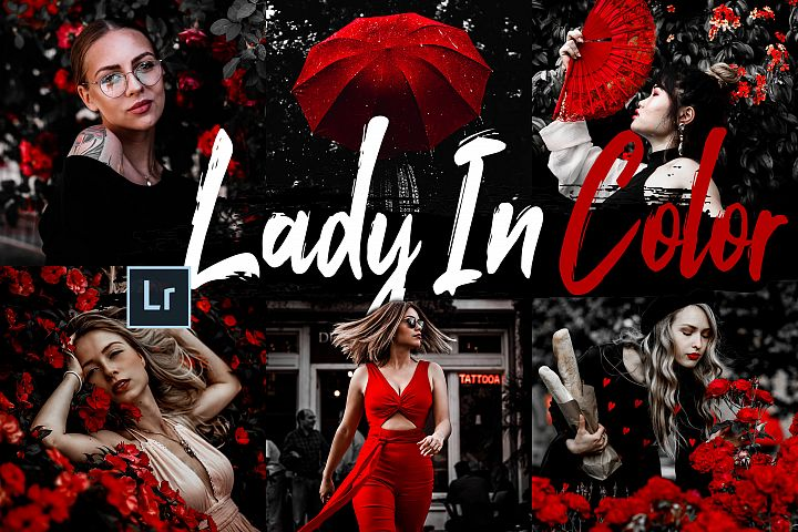 10 Lady In Color Desktop Lightroom Presets and ACR preset