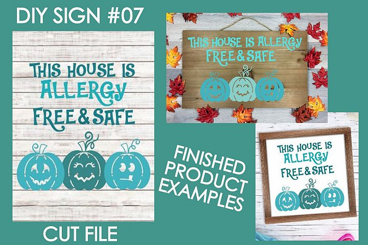 This House is Allergy Free & Safe Halloween Sign #7 SVG File