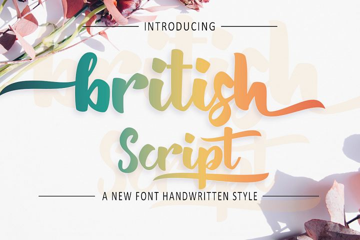 British Script - Handmade Brush