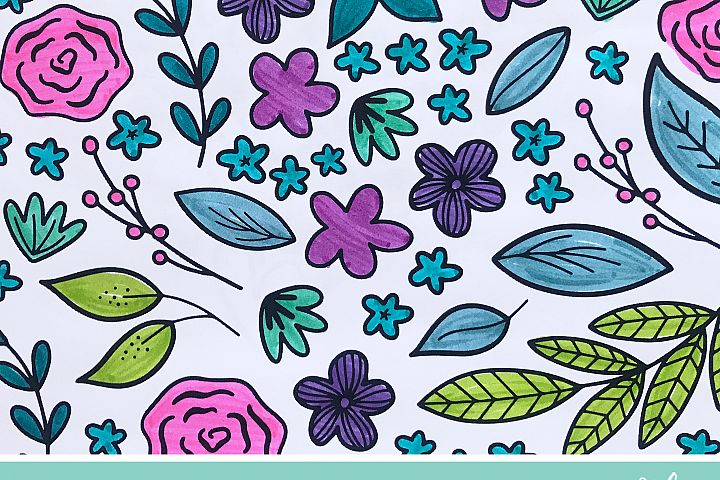 4 Spring Floral Coloring Pages example 2