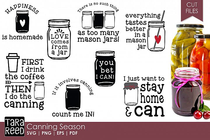 Canning Season - Food SVG and Cut Files for Crafters
