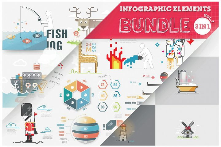 Infographic Elements Bundle 3 in 1 (vol 7)