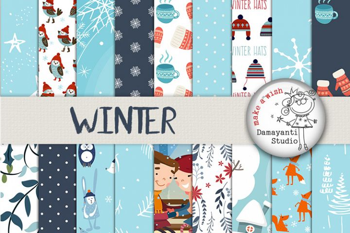 Winter and Christmas digital papers