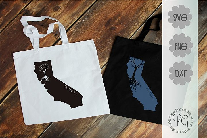 California Roots SVG PNG DXF