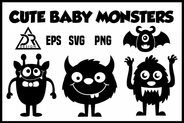 Cute Baby Monsters SVG