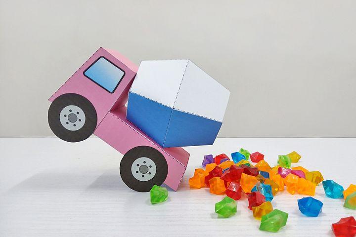 DIY Construction truck favor,party favor,Babyshower favor