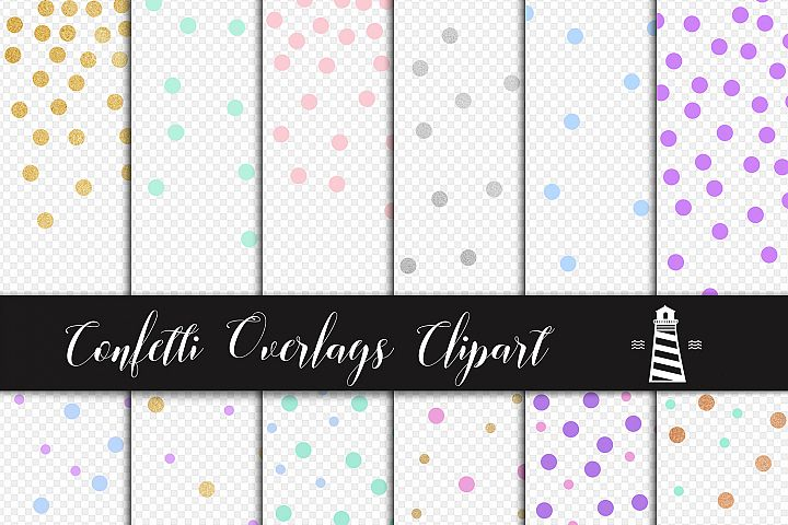 Party Confetti Overlays