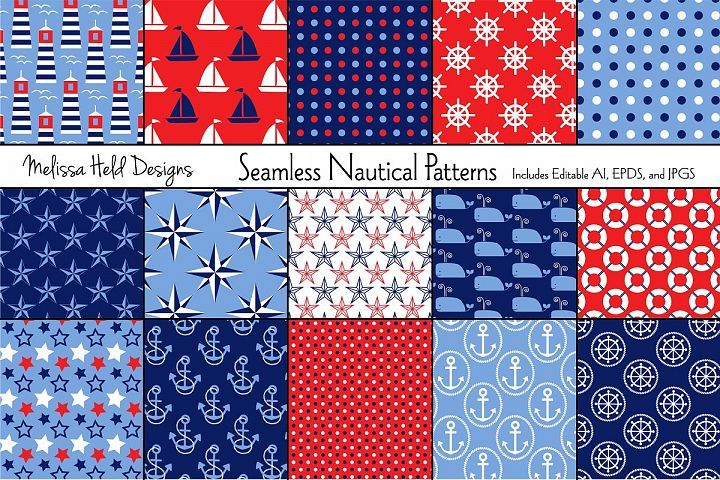 Seamless Nautical Patterns