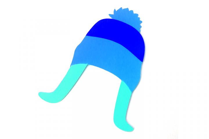 Winter Hat with Flaps and Pom Pom SVG File Cutting Template