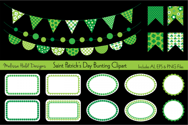 Saint Patricks Day Bunting Clipart