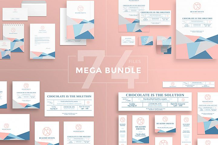 Handcrafted Healthy Sweets Design Templates Bundle
