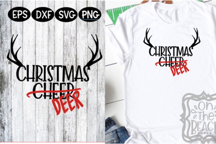Christmas Cheer Deer Christmas Deer Hunting Antlers