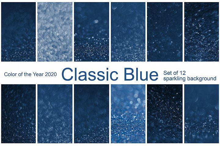 Bokeh Background. Classic Blue. Color 2020