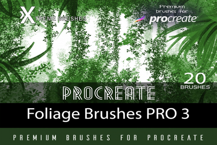 Procreate Foliage Brushes PRO 3