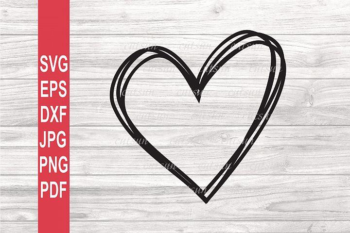 Valentine SVG | Doodle Heart SVG | Valentines day SVG
