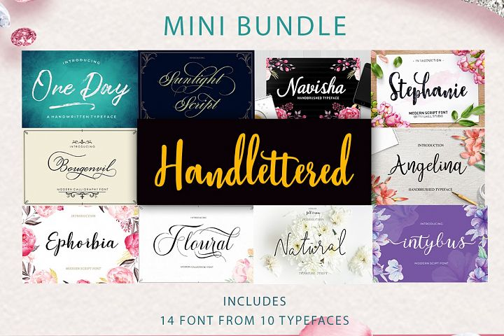 Mini Bundle Handlettered