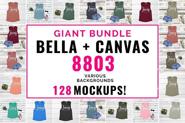 Bella Canvas 8803 Mockup Bundle, Tank Top Mockup
