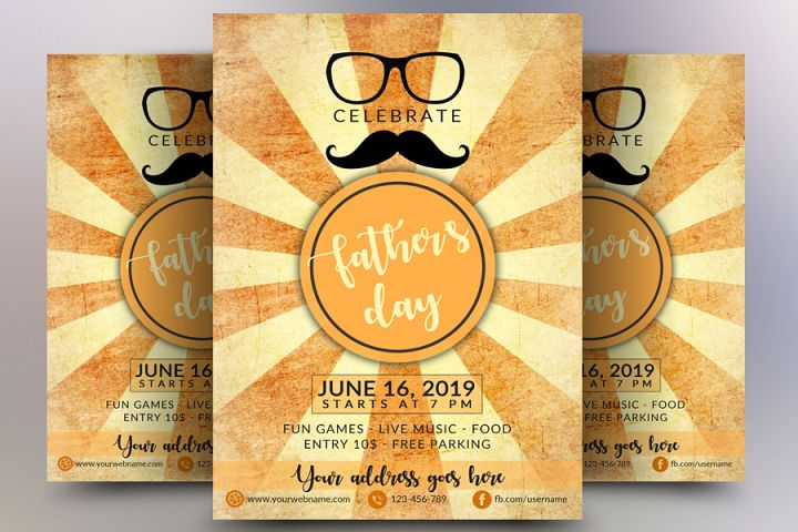 Fathers day celebrations flyer