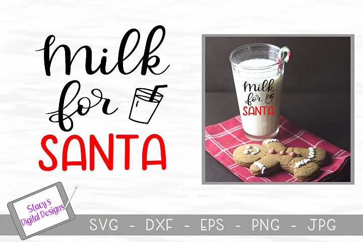 Christmas SVG - Milk for Santa SVG file, handlettered