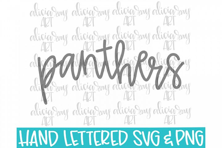Panthers Hand Lettered SVG PNG Digital Download